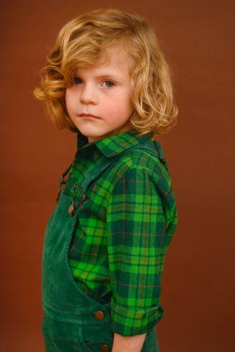 Jules Hemd Green Tartan