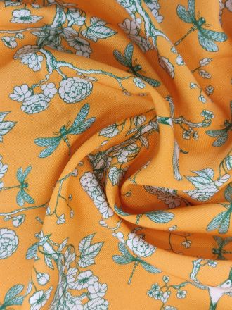 Fabric Printed Ecovero Cherry Blossom