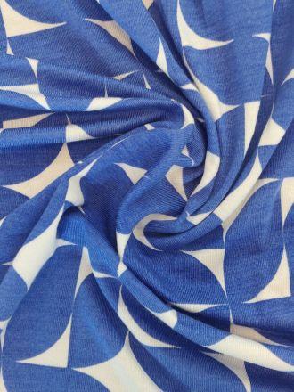 Fabric Printed Tencel Jersey Cobalt Dream