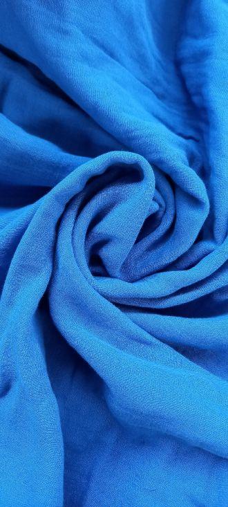 Fabric Plain Double Face Dazzling Blue