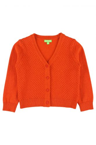 Alicia Cardigan for Girls Mandarin Red