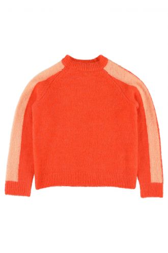 Antonina Jumper for Kids Manadarin Red