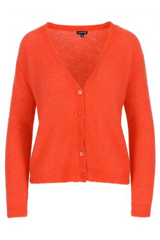Berry Cardigan voor Dames Mandarin Red