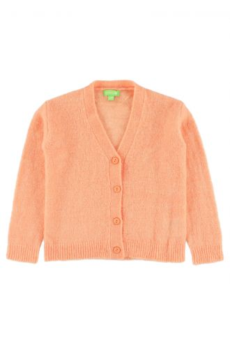 Berry Cardigan for Kids Papaya Punch
