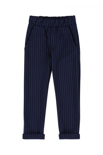 Tars Trousers Striped Patriot Blue