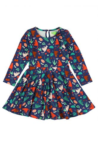 Trissia Dress Groovy Cats