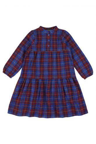 Lizzy Dress Blue Tartan
