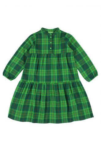Lizzy Dress Green Tartan