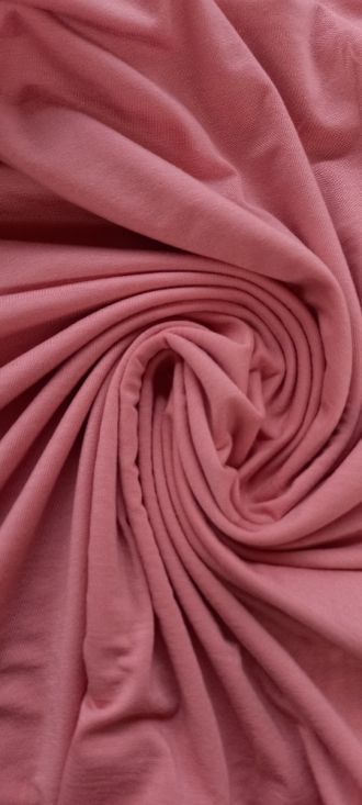 Fabric Plain Tencel Jersey Crabapple