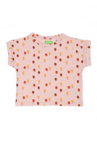Fenna T-shirt Ice Cream Pink