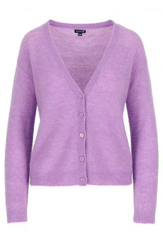 Berry Cardigan voor Dames Sheer Lilac