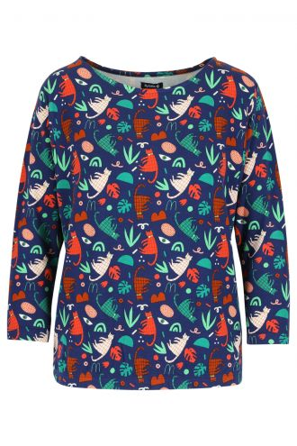 Camilla Blouse Groovy Cats