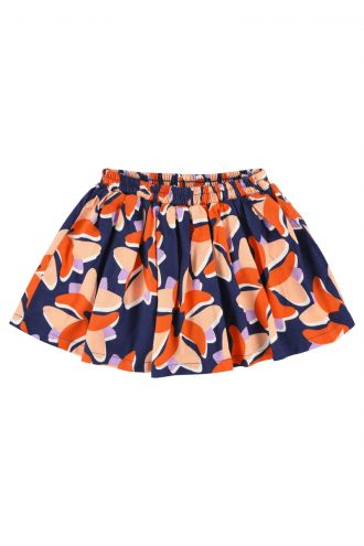 Millie Mini Skirt Big Flower