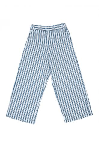 Tess Broek Boat Stripe Real Teal