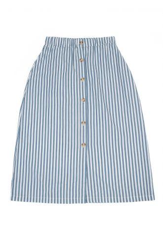 Thalia Rok voor Dames Boat Stripe Real Teal
