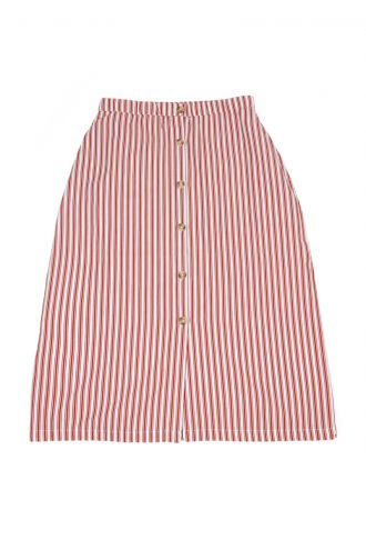 Thalia Rok voor Dames Boat Stripe Strawberry