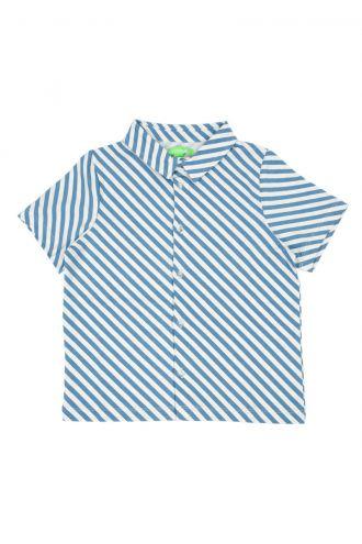 Julian Hemd Diagonal Stripes