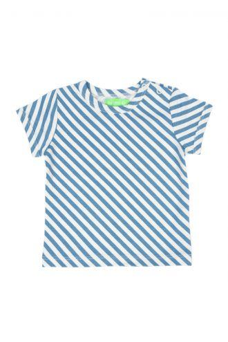 Kas Baby T-shirt Diagonal Stripes